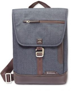 Brenthaven Collins Vertical Messenger Bag for Surface Pro 3/4, Indigo