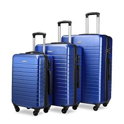 Luggage Sets Spinner Hard Shell Suitcase Lightweight Luggage – 3 Piece (20″ 24″ ...