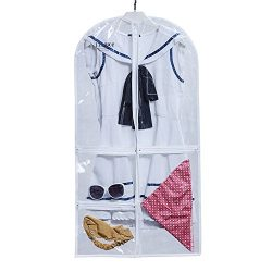 EZIHOM Costume Clear Plastic Garment Bag with Pockets for Dance Competitions