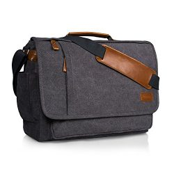 Estarer Computer Messenger 17-17.3 Inch Water-resistance Canvas Laptop Shoulder Bag for Travel W ...