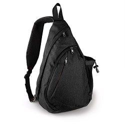 OutdoorMaster Sling Bag – Crossbody Backpack for Women & Men (Black)