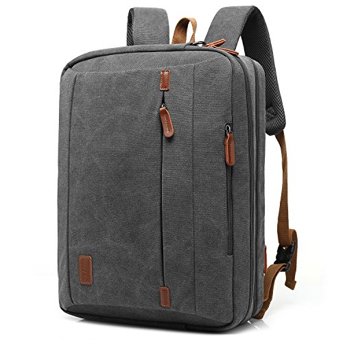 be024080e8 CoolBELL 17.3 Inches Convertible Laptop Messenger Bag Shoulder Bag Canvas  Backpack Oxford Cloth .