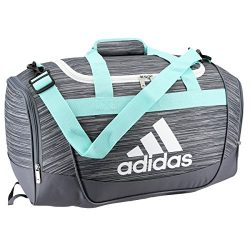 adidas 104385 Defender II Small Duffel Bag, One Size, Onix Looper/Energy Aqua/Onix/White