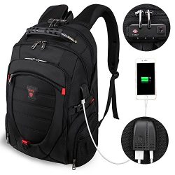 Tzowla Travel Laptop Backpack Anti-theft Water Resistant Business Backpack with TSA Lock & U ...