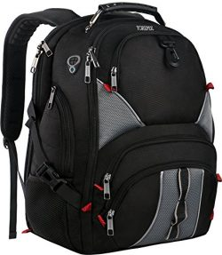17 Inch Laptop Backpack,Large Travel Backpack,TSA Friendly Durable Computer Bagpack with Luggage ...