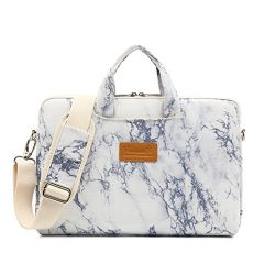 Canvaslife New marble Pattern 15 inch Waterproof Laptop Shoulder Messenger Bag Case With Rebound ...