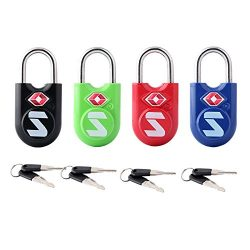 TSA Compatible Travel Luggage Locks, Alloy body with Steel Shackle, Keyed Lock