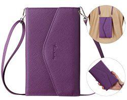 Travelambo Rfid Blocking Passport Holder Wallet & Travel Wallet Envelope 7 Colors (purple wi ...