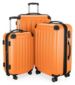 HAUPTSTADTKOFFER Luggages Sets Glossy Suitcase Sets Hardside Spinner Trolley Expandable (20&#824 ...
