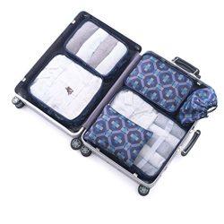6 Set Travel Packing Organizer,Waterproof Mesh Luggage Travel Cubes with 1 Shoe Bag – Trav ...