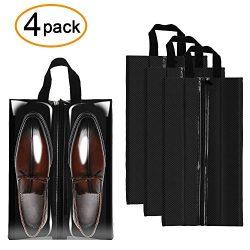 Sariok Travel Shoe Bags Waterproof Nylon Packing Organizer Storage For Men and Women, Transparen ...