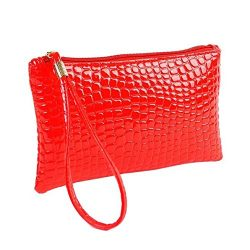 Women Girl Leather Clutch Handbag Bag Wristlet Clearance Tassel Messenger Strap Messenger Handba ...