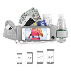 Running Waist Pack,Easest Waist Band Running Belt for 5.5 Inch Screen Cellphone, Smartphones, iP ...