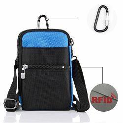 liangdongshop 3 Way Water Resistant Utility Gadget Pouch RFID Blocking Passport Phone Waist Pack ...