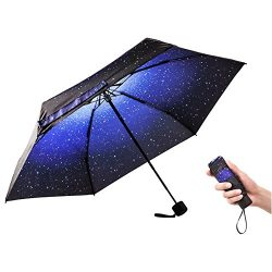 Ke.movan Travel Compact Umbrella Windproof Mini Sun & Rain Umbrella Ultra Light Parasol R ...
