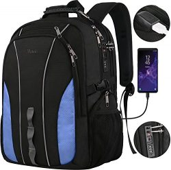Large Laptop Backpack, Business Travel Big Student Backpack for 17 Inch Notebook, TSA Friendly W ...