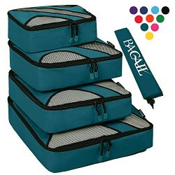 4 Set Packing Cubes,Travel Luggage Packing Organizers with Laundry Bag Teal