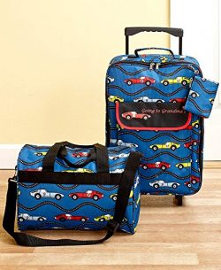 The Lakeside Collection Kids' Going to Grandma's 3-Pc. Luggage Set- Cars