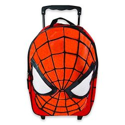 Marvel Spiderman Rolling Luggage — Deluxe Rolling Suitcase for Kids Boys (18″, Red M ...