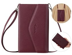Travelambo Rfid Blocking Passport Holder Wallet & Travel Wallet Envelope 7 Colors (wine red  ...