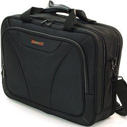 Alpine Swiss Cortland 15.6″ Laptop Bag Organizer Briefcase Black