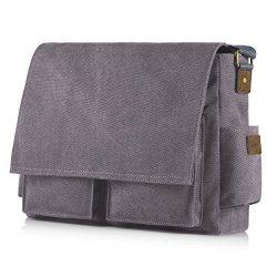 SMRITI 17.3 16 Inch Canvas Messenger Shoulder Bag Laptop Crossbody Men Work Book Shool Bag &#821 ...