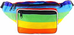 SoJourner Bags Fanny Pack – Classic Solid Bright Colors (Rainbow)