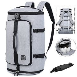 Travel Business Laptop Backpack 3-Way Water Resistant Duffel Luggage Gym Sports Bag with Shoe Co ...