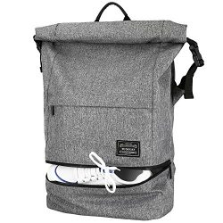 Travel Backpack, Lifeasy Waterproof Anti-Theft Roll Top Business Laptop Bag Lightweight Daypack  ...