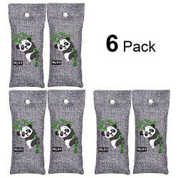 MySit Shoe Odor Eliminator Deodorizer Bamboo Charcoal Air Purifying Bags (6 x 100g)