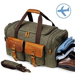 Canvas Duffle Bag Overnight Bags for Men Weekend Travel Duffel Weekender Bags For Women Canvas L ...