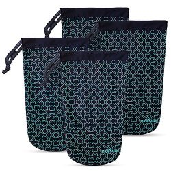 NICESTILE Travel Shoe Bags | 4 x Individual Shoe Covers to Pack Efficiently