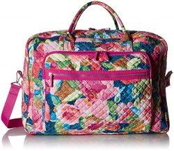Vera Bradley Iconic Grand Weekender Travel Bag, Signature Cotton, Superbloom