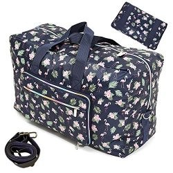 Travel Bag Foldable Large Travel Duffel Bag Checked Bag Luggage Tote 18 Style (crane)