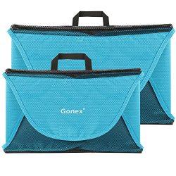 Gonex Garment Folder, 15″+18″ Travel Shirt Packing Organizer Blue