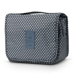 Travel Accessories,Mossio Suitcase Dividers Printed Pattern Toiletry Bag for Kids Navy Star