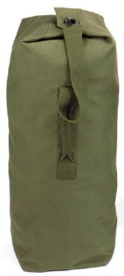 Rothco Heavyweight Top Load Canvas Duffle Bag, Olive Drab, 25″ x 42″