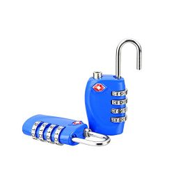 TSA Locks for Luggage Suitcase School Gym Locks Zinc Alloy 4 Digit 2 pack Travel Suitcase Baggag ...
