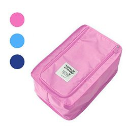 Buruis Portable Travel Shoe Bag, Lightweright Luggage Shoe Bag Organizer Pouch with Mesh Pocket  ...