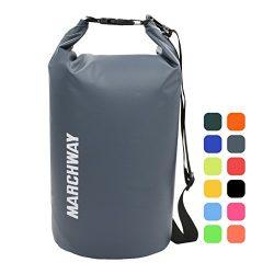 MARCHWAY Floating Waterproof Duffel Dry Bag Backpack 5L/10L/20L/30L/40L, Roll Top Pack Sack Keep ...