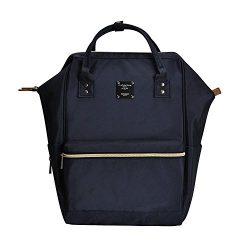 Bebamour Casual College Backpack Lightweight Travel Backpack for Women&Men,Dark Blue