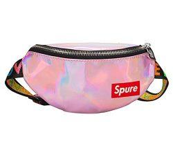 Kids Holographic Fanny Pack Sports Hiking Running Purse Waist Pack Belt Bum Bag