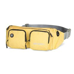WATERFLY Fanny Packs Water Resistant Waist Bag(Newer Version) for Men Women Travel Running (Yellow)