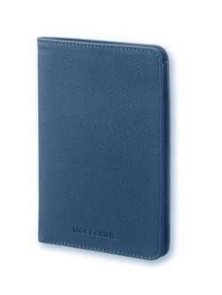 Moleskine Lineage Leather Passport Wallet Blue
