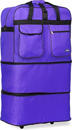 30″/36″/40″/ Rolling Wheeled SuitCase (40″, Purple)