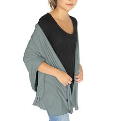 HappyLuxe Wayfarer Travel Wrap and Shawl, Cozy Travel Blanket, Built in Neck Warmer (Sage Green)