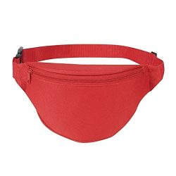 BuyAgain Fanny pack, Unisex 2 Zipper Quick Release Buckle Travel Sport Running Waist Fanny Pack