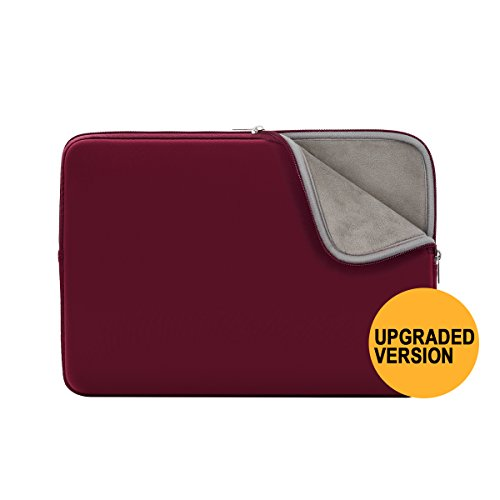 RAINYEAR 15.6 Inch Laptop Sleeve Protective Case Cover Soft Fluffy Lining Carrying Bag for 15.6& ...