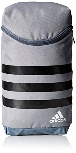 adidas Golf 3-Stripes Golf Shoe Bag, Grey/Black/White, One Size