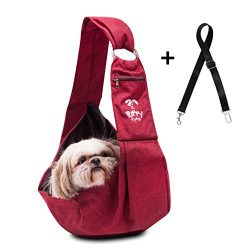 Puppy Eyes Waterproof Pet Carrier Sling by Comfortable and Adjustable dog sling Ideal for small  ...